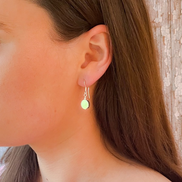 Drop Disc Earrings