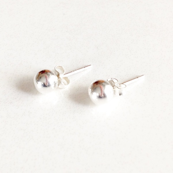 Small Silver Orb Stud
