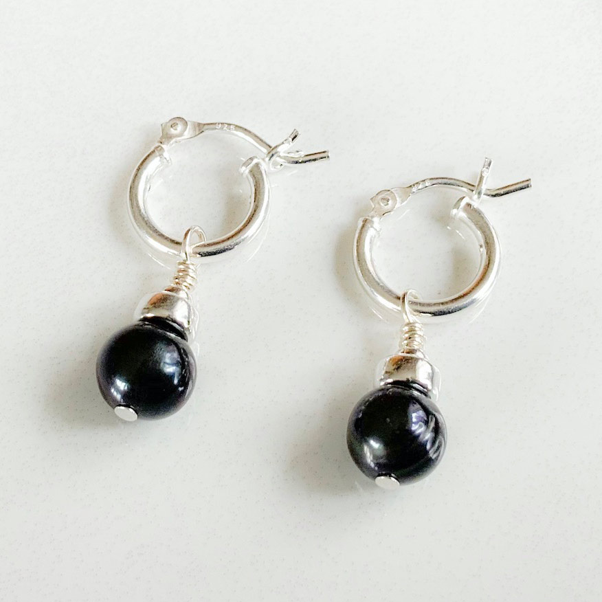 Black Pearl Hoops