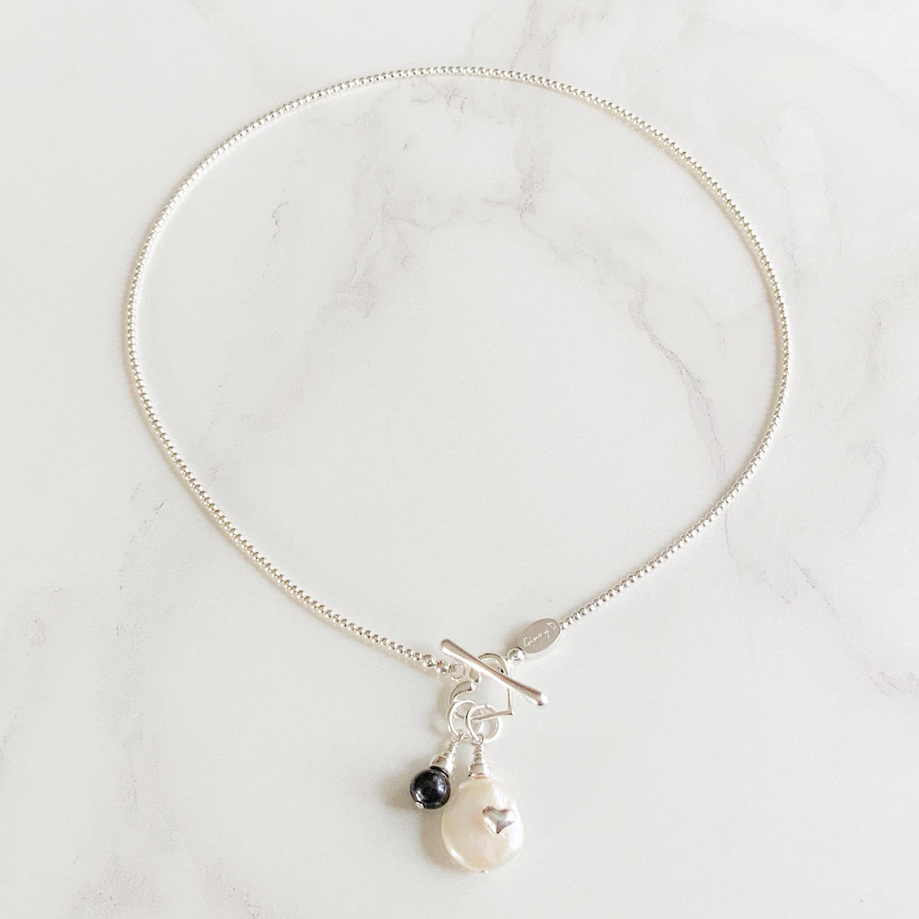 Pearl Coin Skinny Necklace